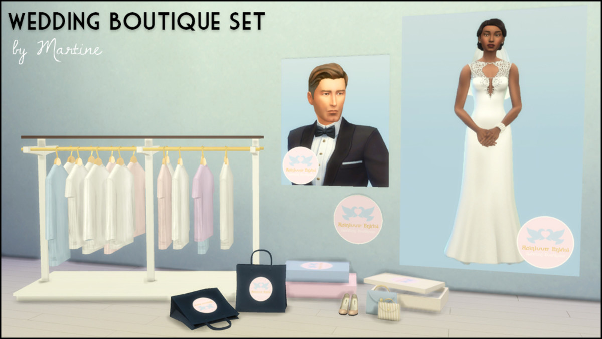 Want to run your own wedding boutique retail store?  This set has everything you'll need!