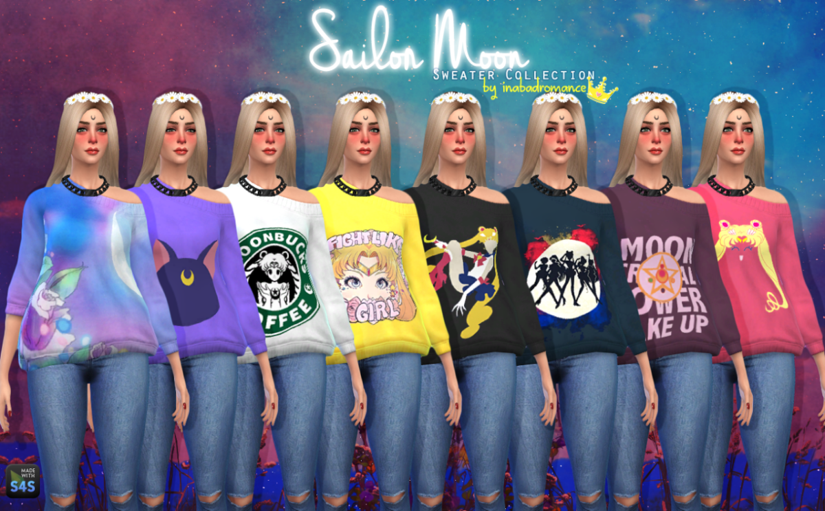 If you're a Sailor Moon fan, you'll definitely need these sweaters in your game!