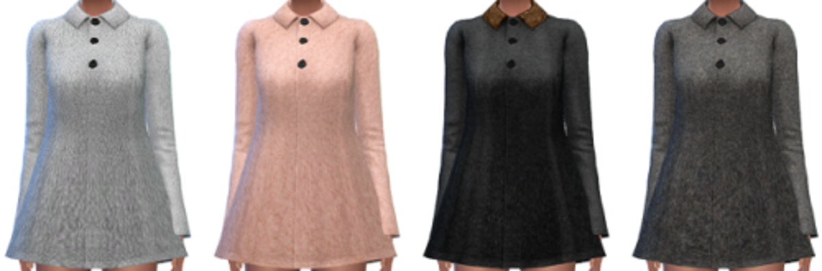 Cute raincoats for female Sims.