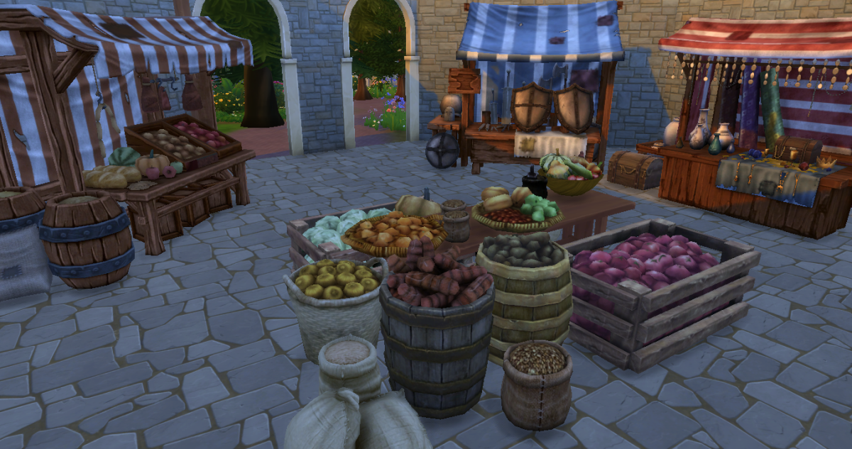 How about a medieval market place?