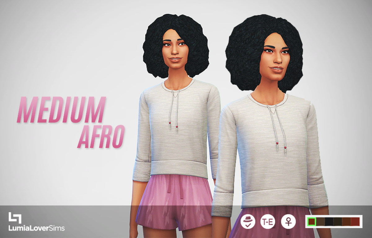 This afro is much better than the one included in the base game.