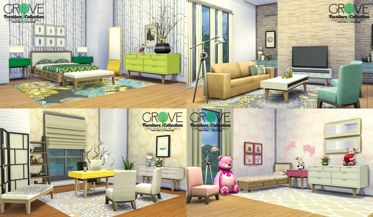Living room or bedroom furniture? You can find it all at Simsational Designs!