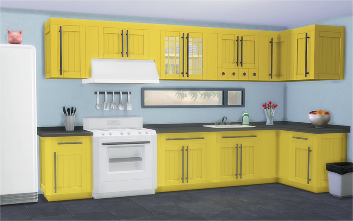 I absolutely love these kitchen counters!  The colours are so bright and cheerful and the design is gorgeous!