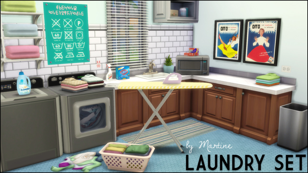 We don't have laundry (yet!) in The Sims 4, but you can pretend we do with this adorable set!
