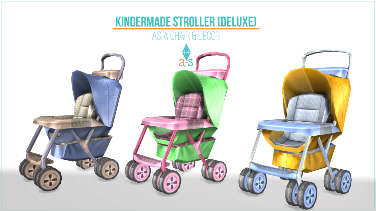 We don't have toddlers (yet!) but decorative strollers are still necessary in your game!