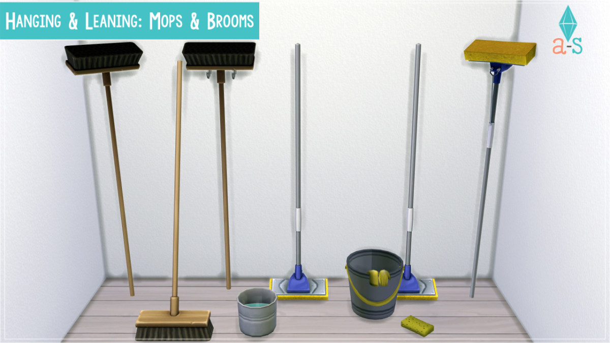 Maybe I'm too much of a neat freak, but I love these deco mops and brooms!