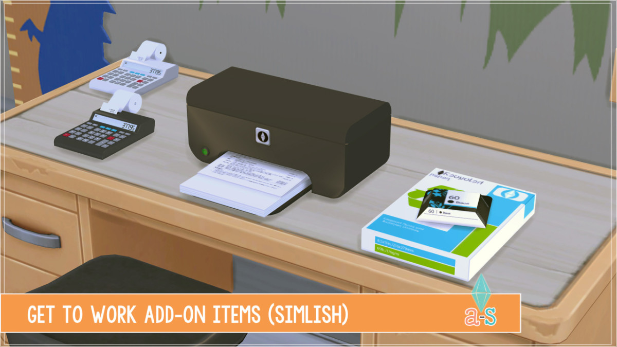 Got the Get To Work EP?  You'll need these add-ons to make your office look more realistic.