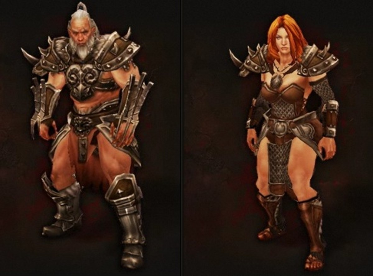 Male and female Barbarians