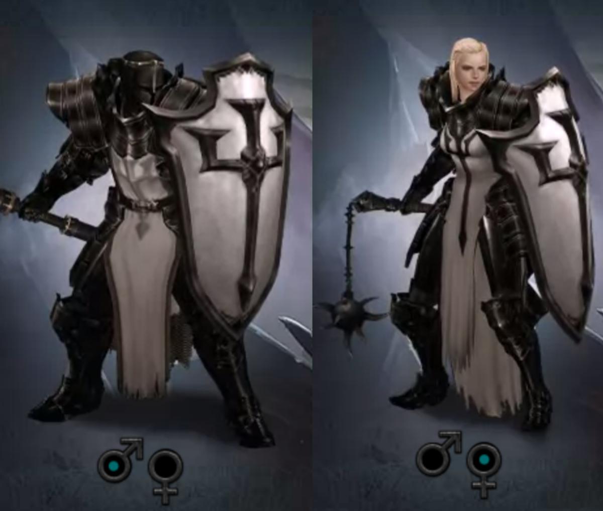 Male and Female Crusaders