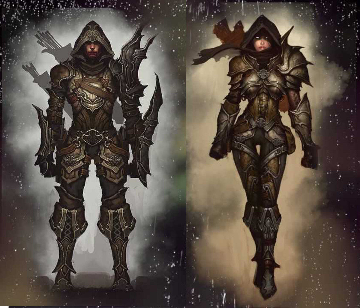 Male and female Demon Hunters