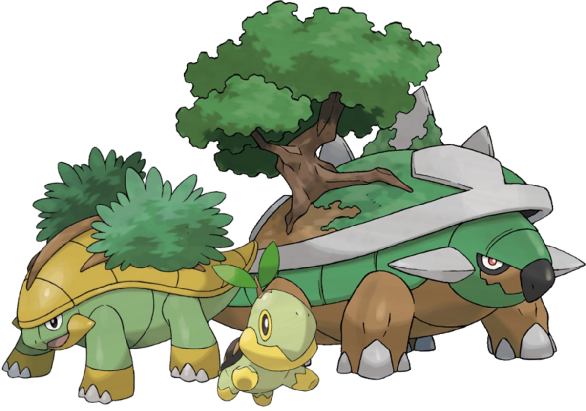 Turtwig, Grotle, and Torterra
