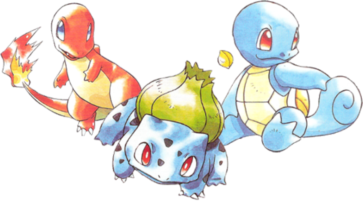 The Kanto Starters: Charmander, Bulbasaur and Squirtle