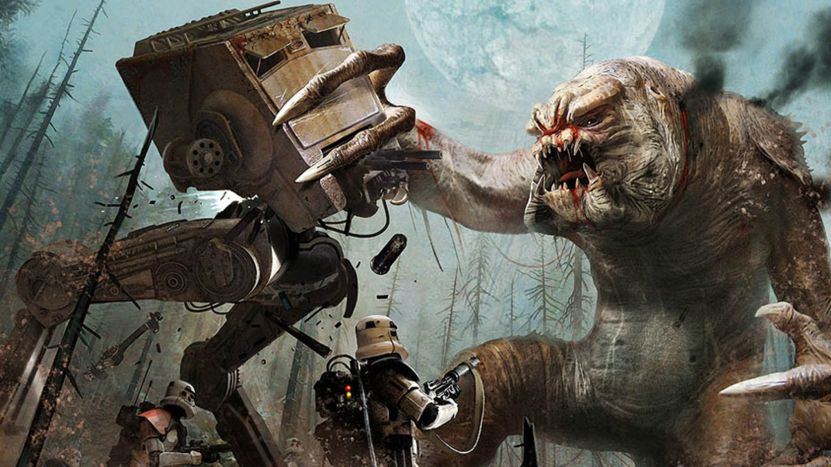 A fight against a Rancor.