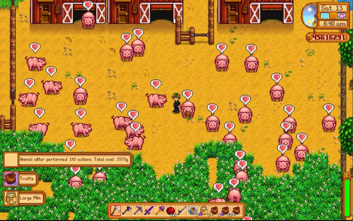 Take care of all your animals with just one click, thanks to jwdred's mod!