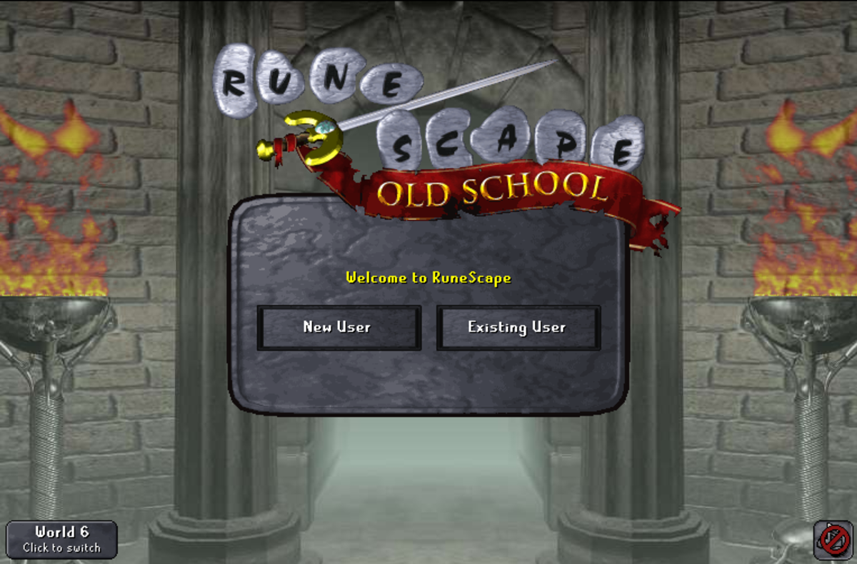 A version of the Old School login screen.