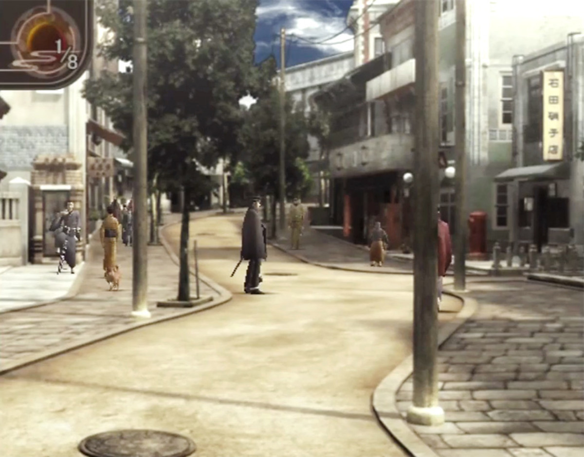Tokyo street scene from Raidou Kuzunoha vs. The Soulless Army.