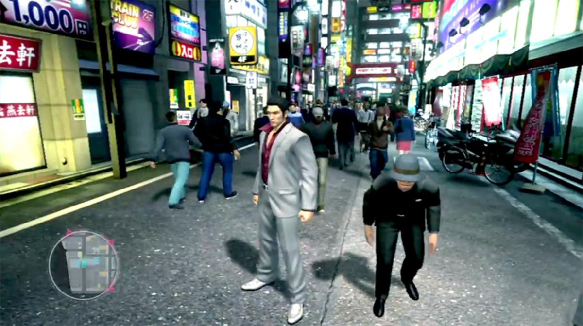 Street scene in Yakuza 3.