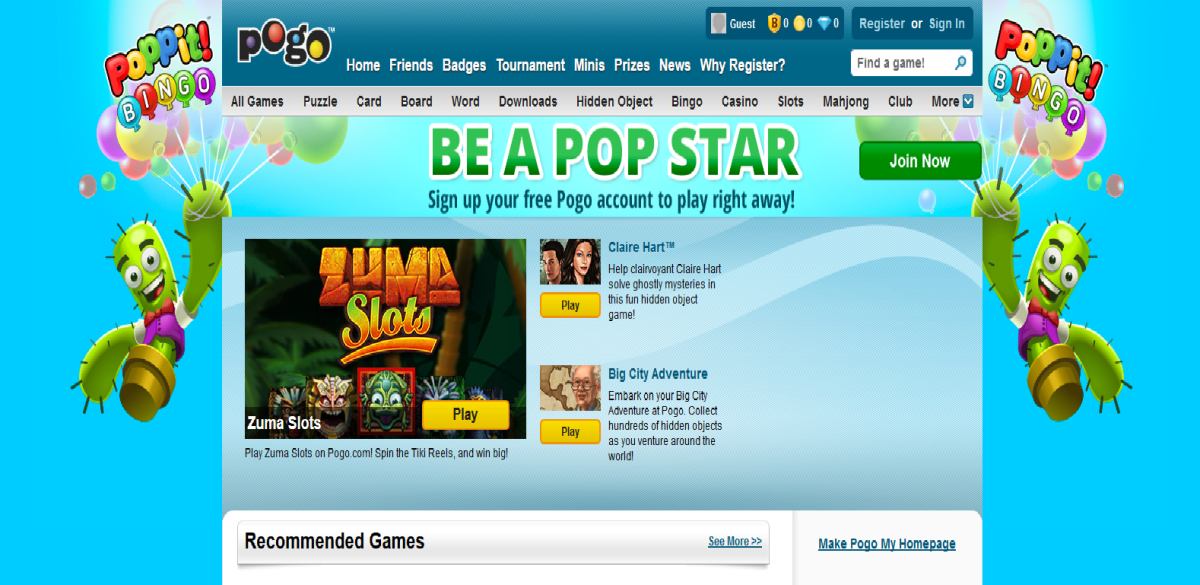 Play Games for Free on Pogo hubpages.com/@simplehappylife