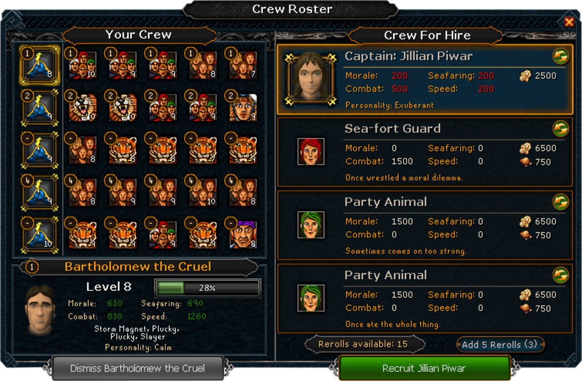 The crew interface in Ports