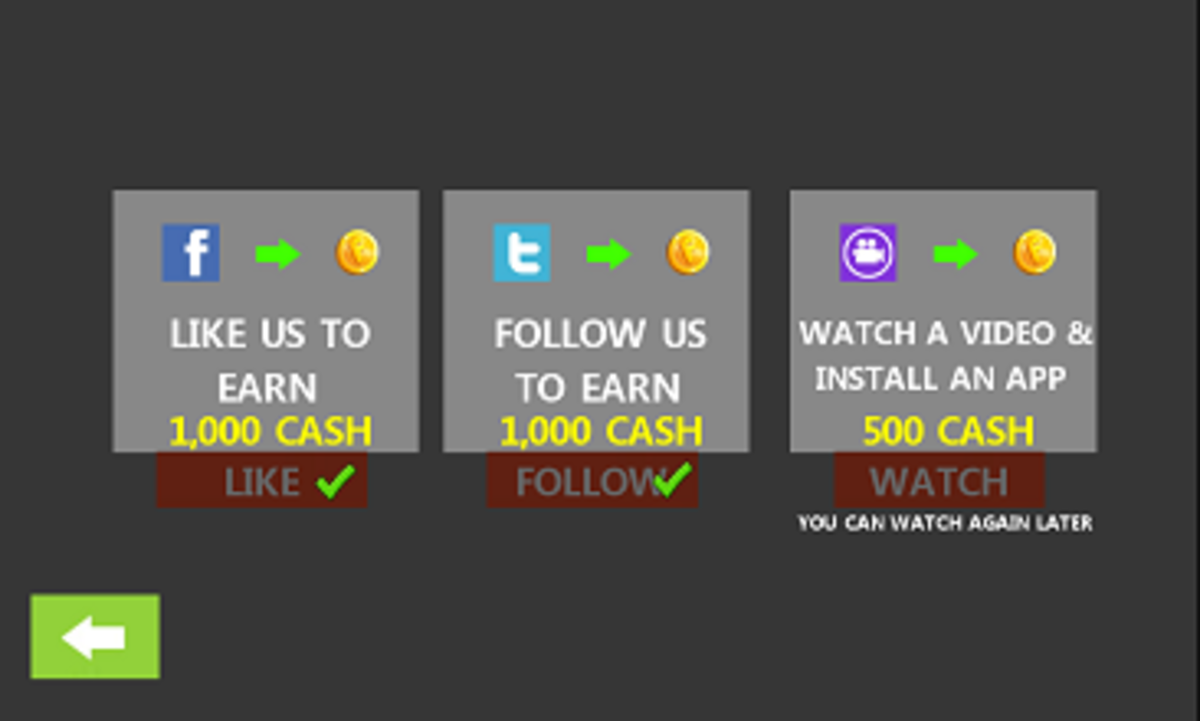 Bonuses on the Game's Social Media Pages
