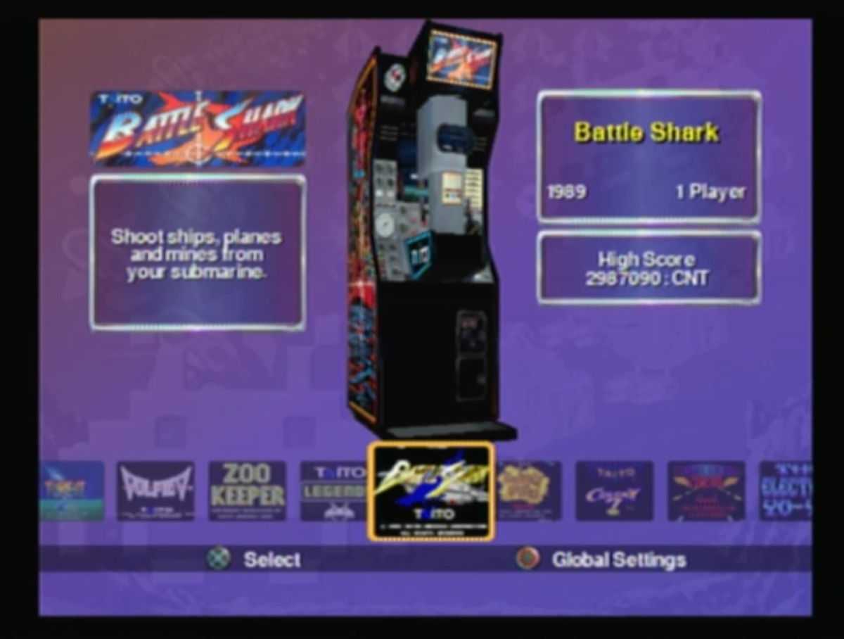 Battle Shark on Taito Legends