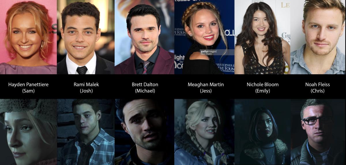 Cast of Until Dawn
