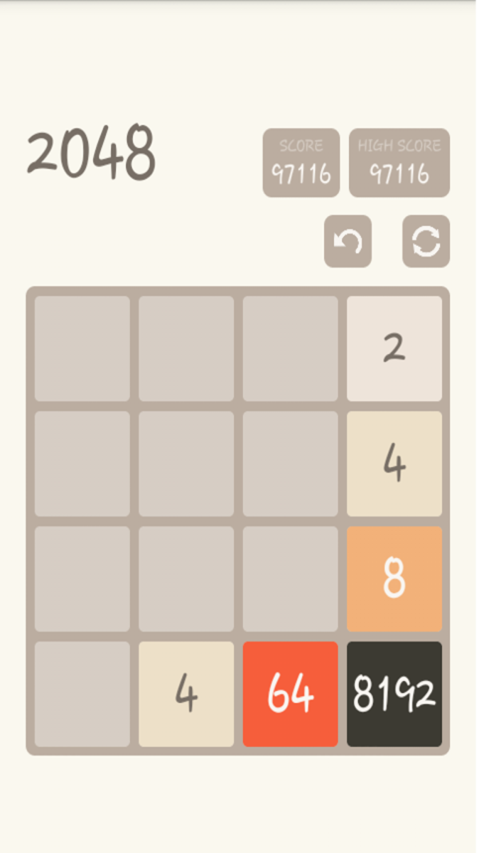 A game where the final score exceeded 2048.