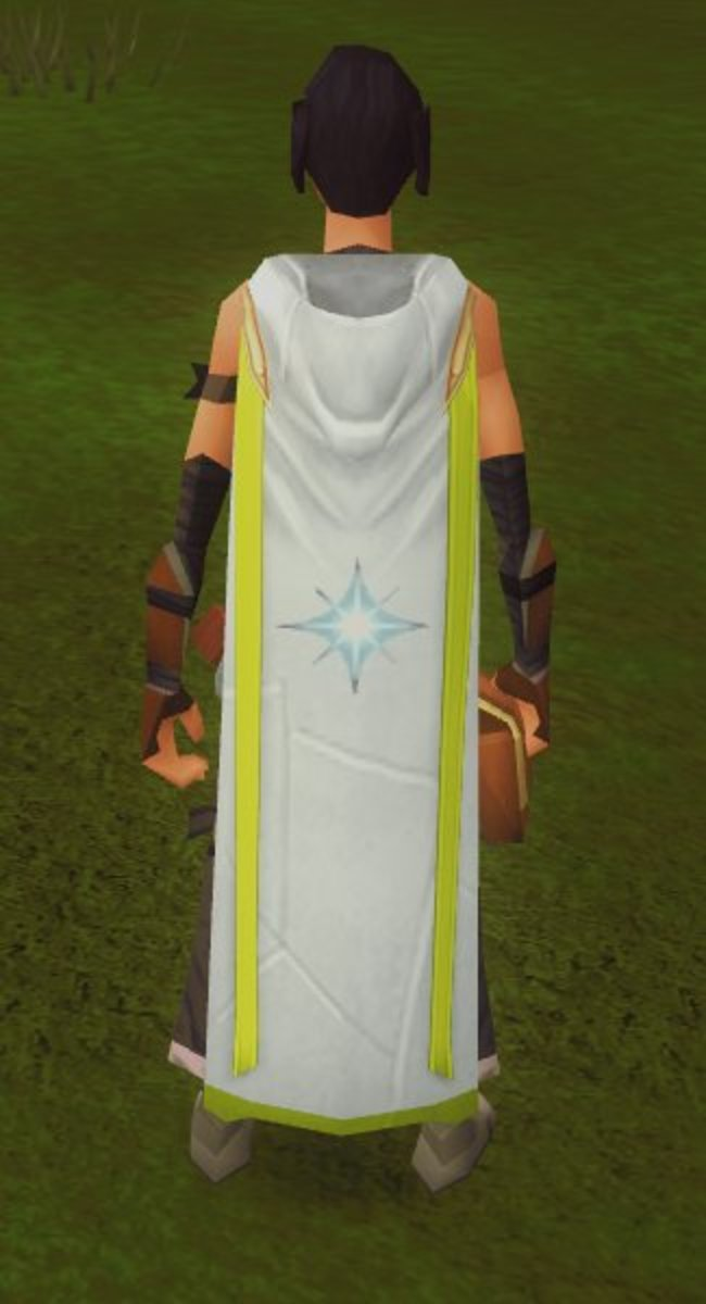 A character wearing the Prayer skill cape.