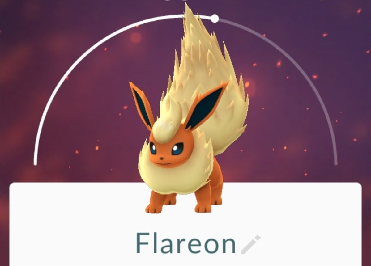 Flareon is one evolution option for Eevee.