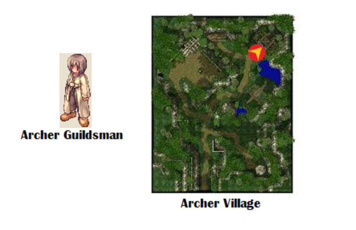 The Archer Guildsman will welcome you to the Guild after you turn in your trunks!