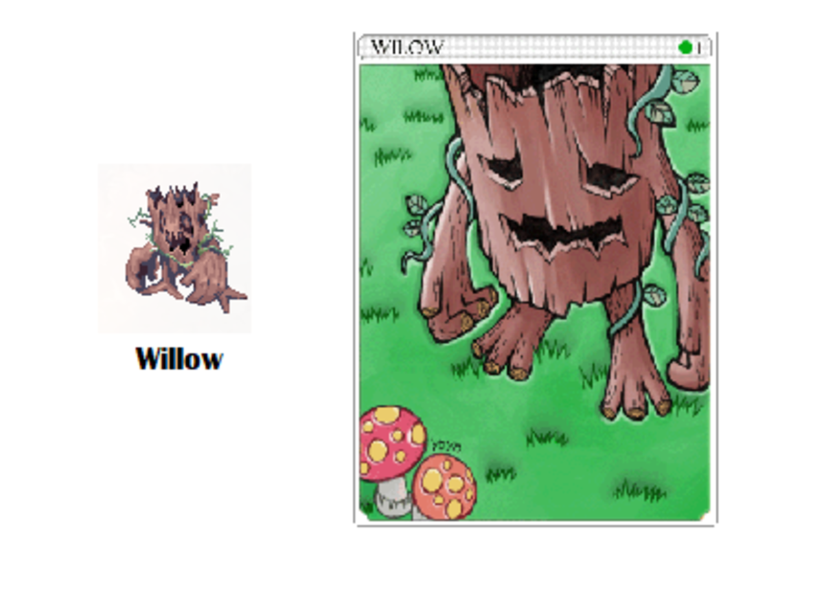 You'll collect the trunks by hunting for Willows.