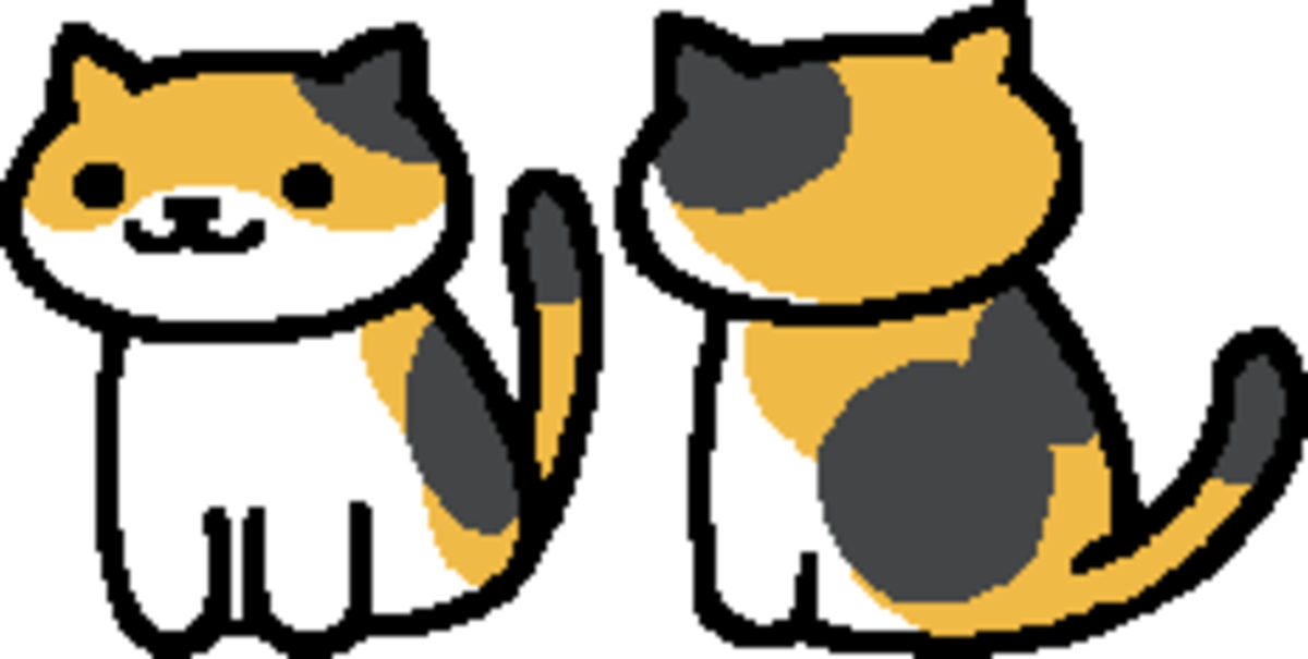 The in-game sprite for Callie in Neko Atsume