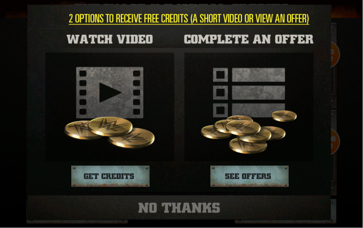 Watch a Video through Tapjoy to gain premium currency!