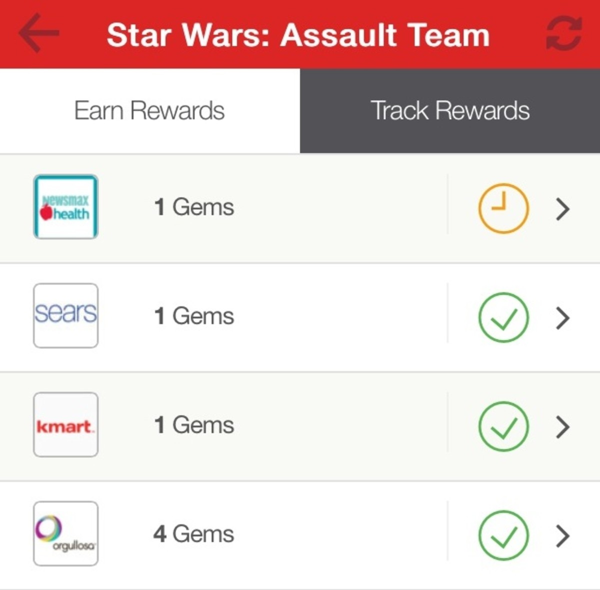 Track your rewards using the My Tapjoy app.