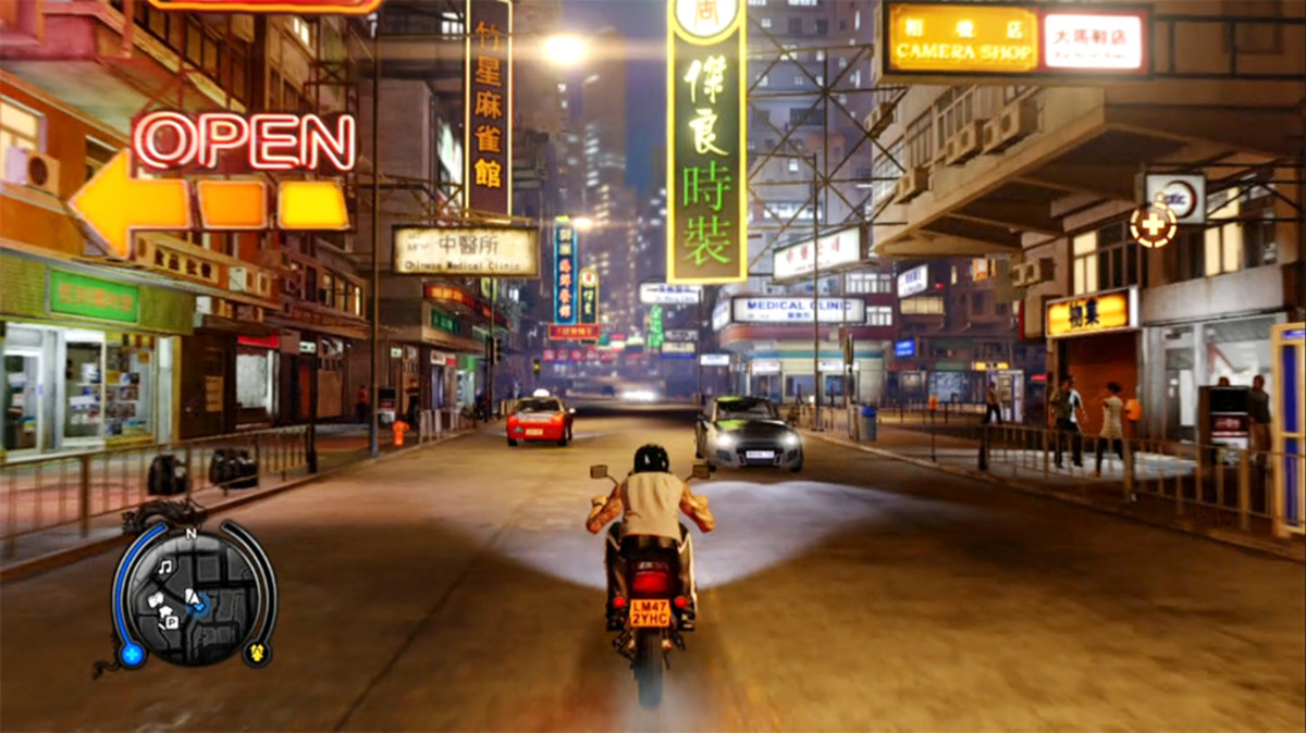 "Victoria Peak, night markets, neon-lit streets, it's all there in ""Sleeping Dogs."""