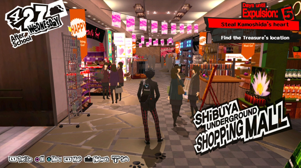 "Japan is famous for its underground malls, and for video games. How about experiencing both at the same time in ""Persona 5 Royal?"""