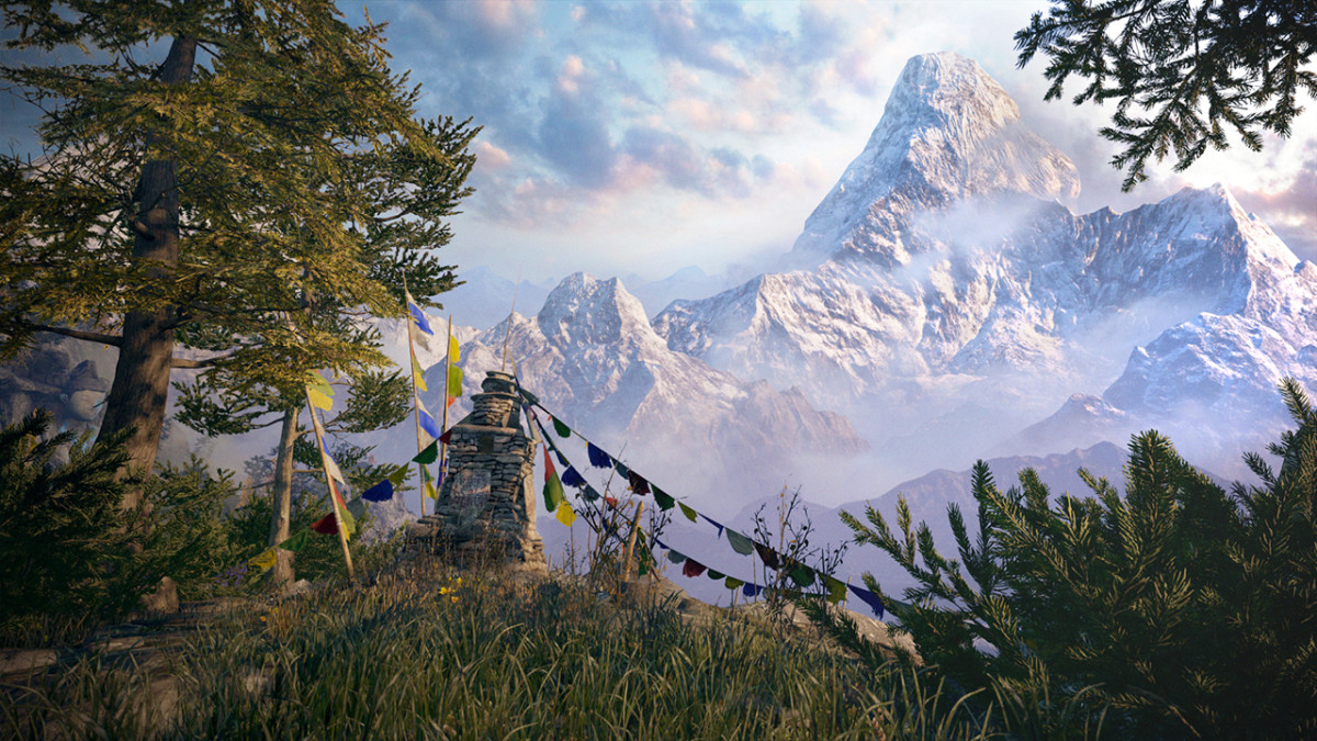 "The alpine world of Kyrat in ""Far Cry 4."" Wouldn't this gorgeous Himalayan be the perfect virtual destination to flee to when stuck indoors?"