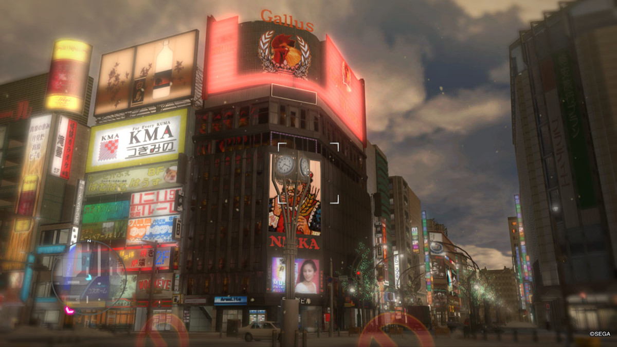 "Winter-time Sapporo in ""Ryu ga Gotoku 5,"" also known as ""Yakuza 5."""