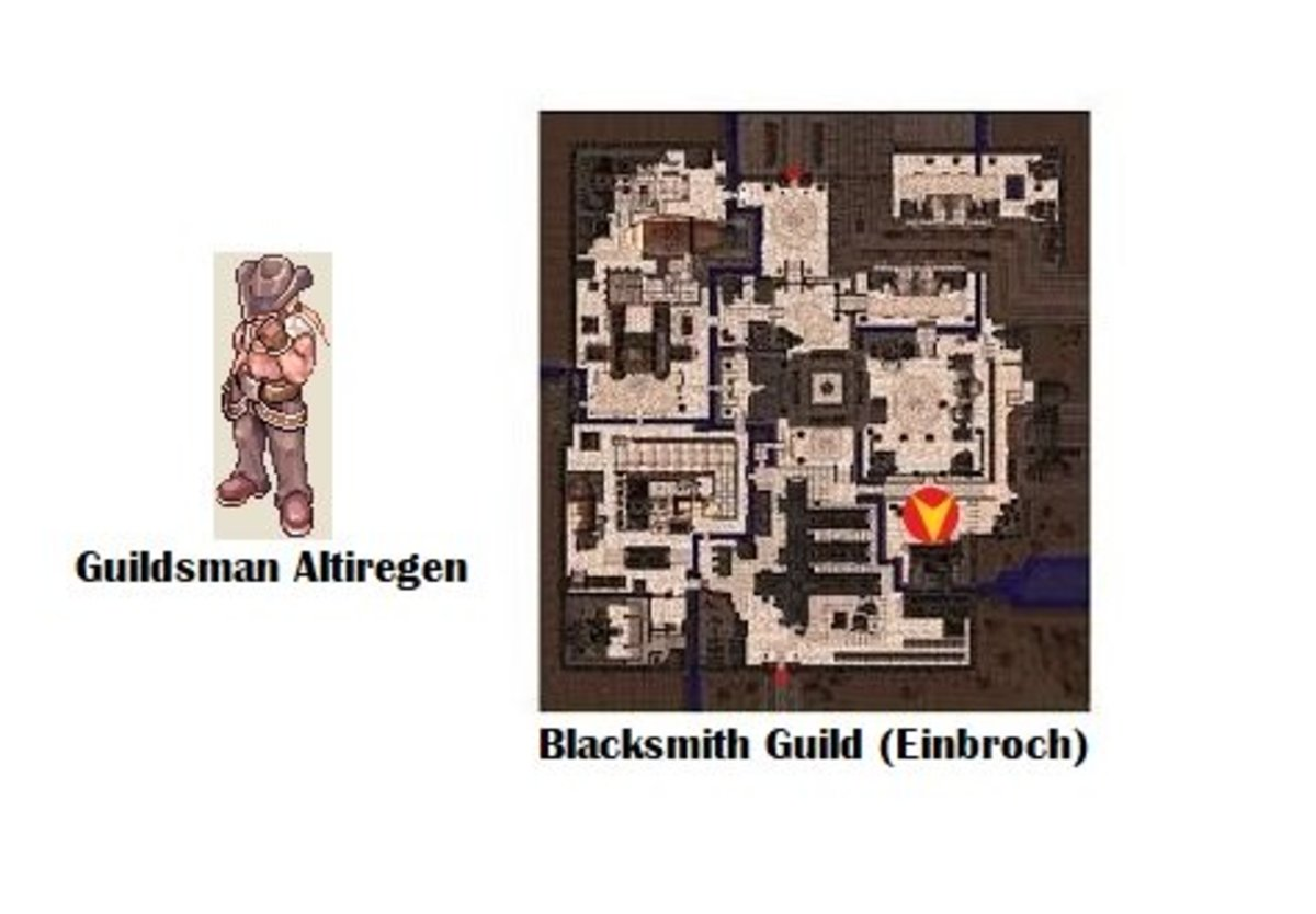Head back to Guildsman Altiregen to be welcome into the Blacksmith guild!
