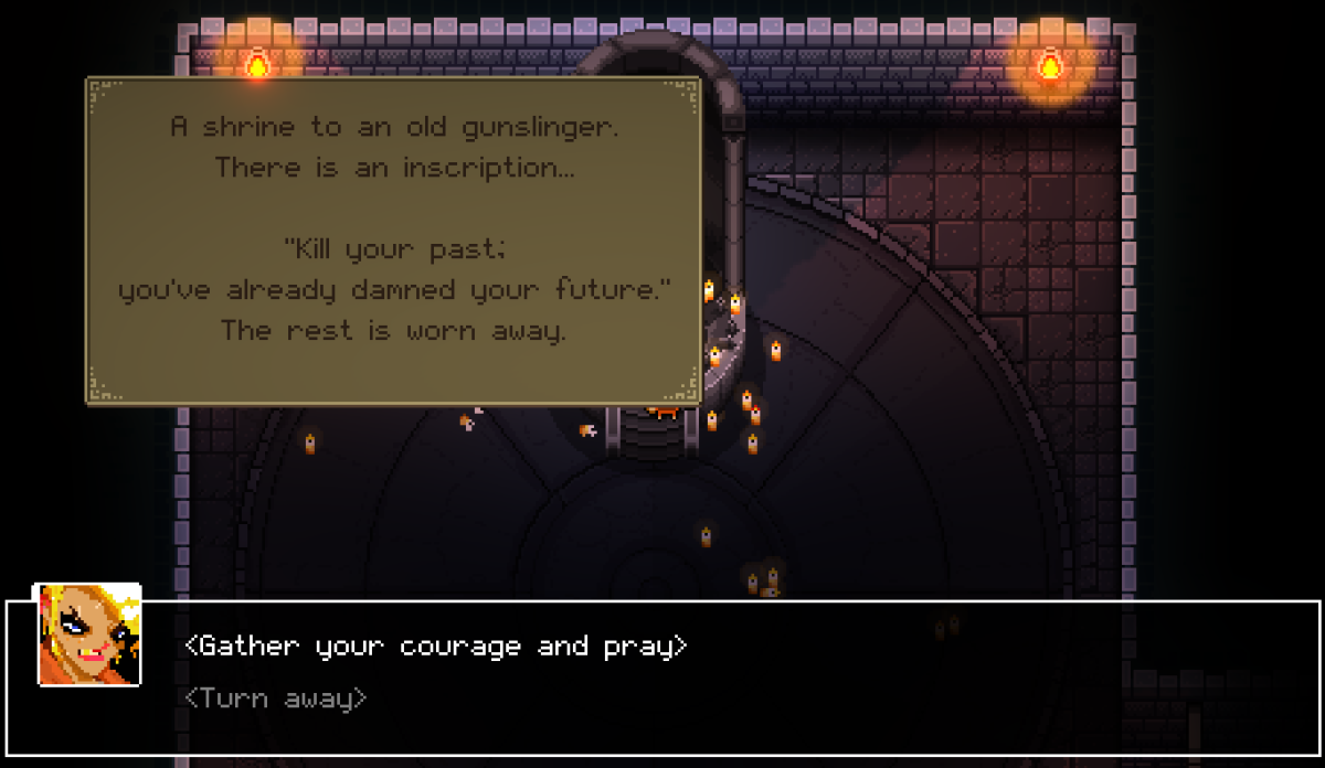 The Hero Shrine text.