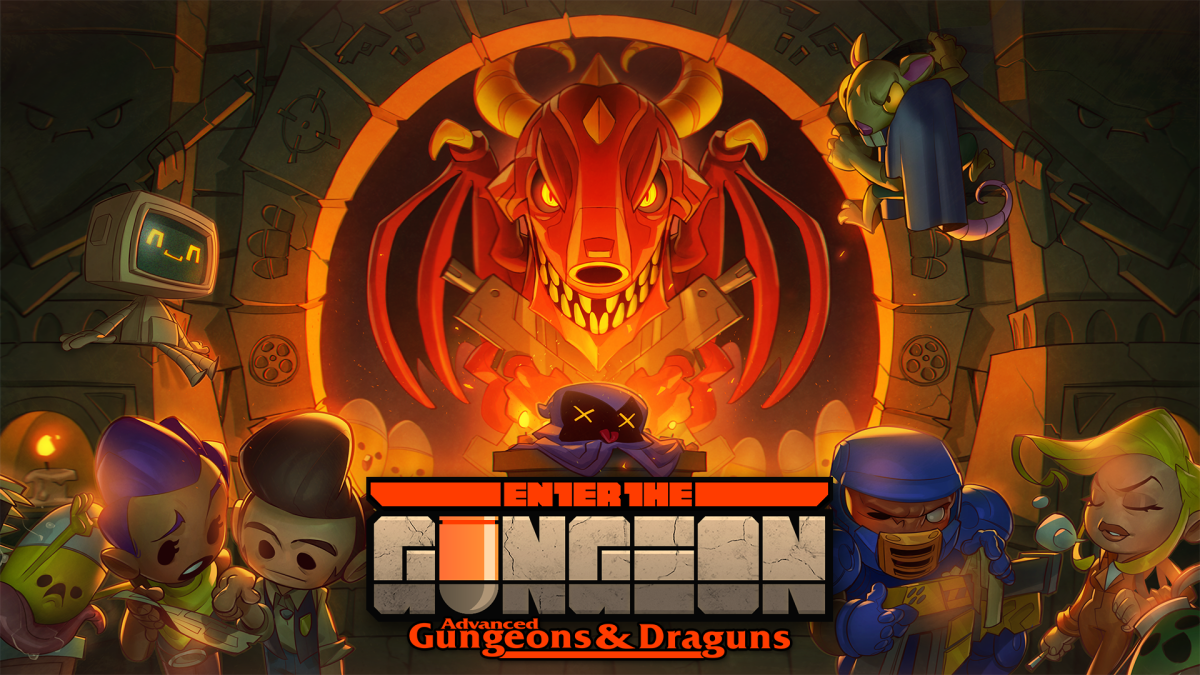 Enter the Gungeon Logo.