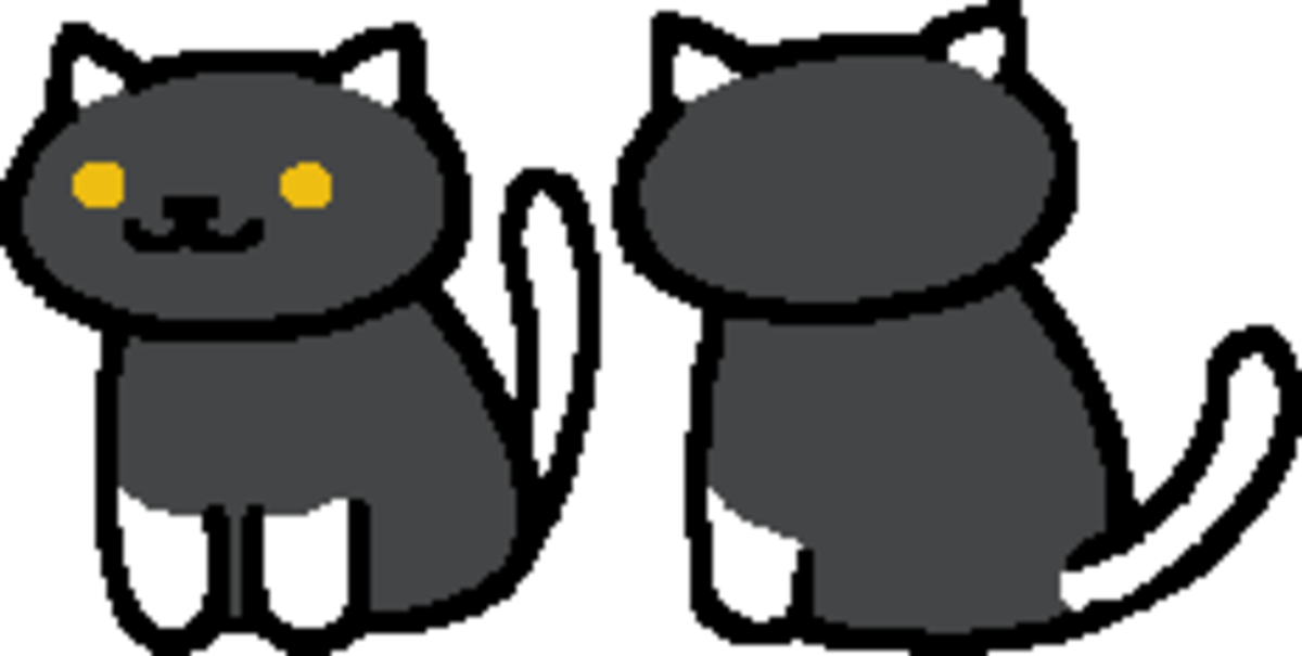 The in-game sprite for Socks in Neko Atsume