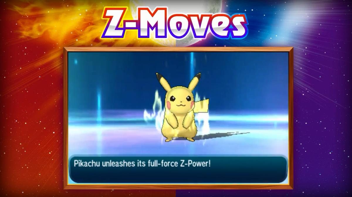 Pikachu using a Z-Power.