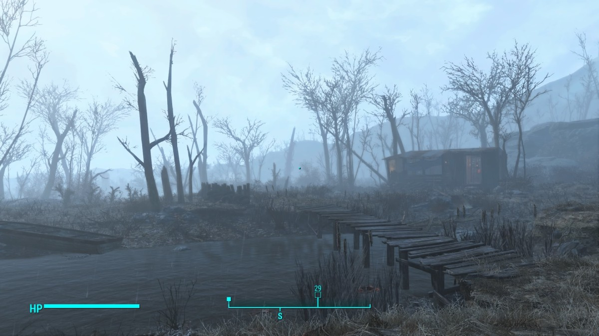A small trader home sits right on the western edge just south of the Power Pylons along the map border.