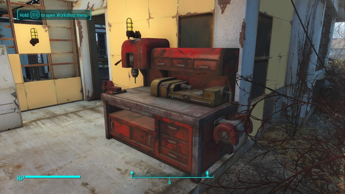 In Sanctuary, scrap your things in front of the workbench to avoid losing anything.