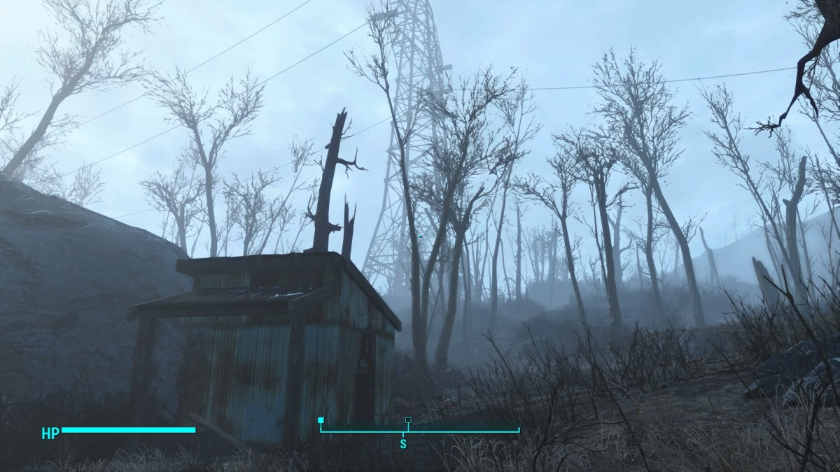 This locked shed sits on the very edge of the western map right before you reach the Pylon Tower.