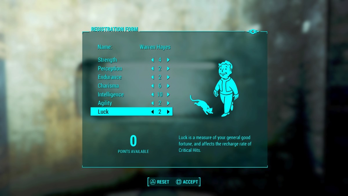 S. P. E. C. I. A. L. influences so much more than just your character in Fallout 4.