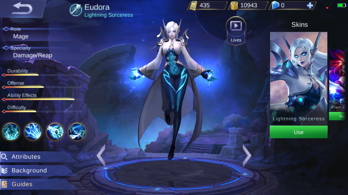 Eudora is the Lightning Sorceress