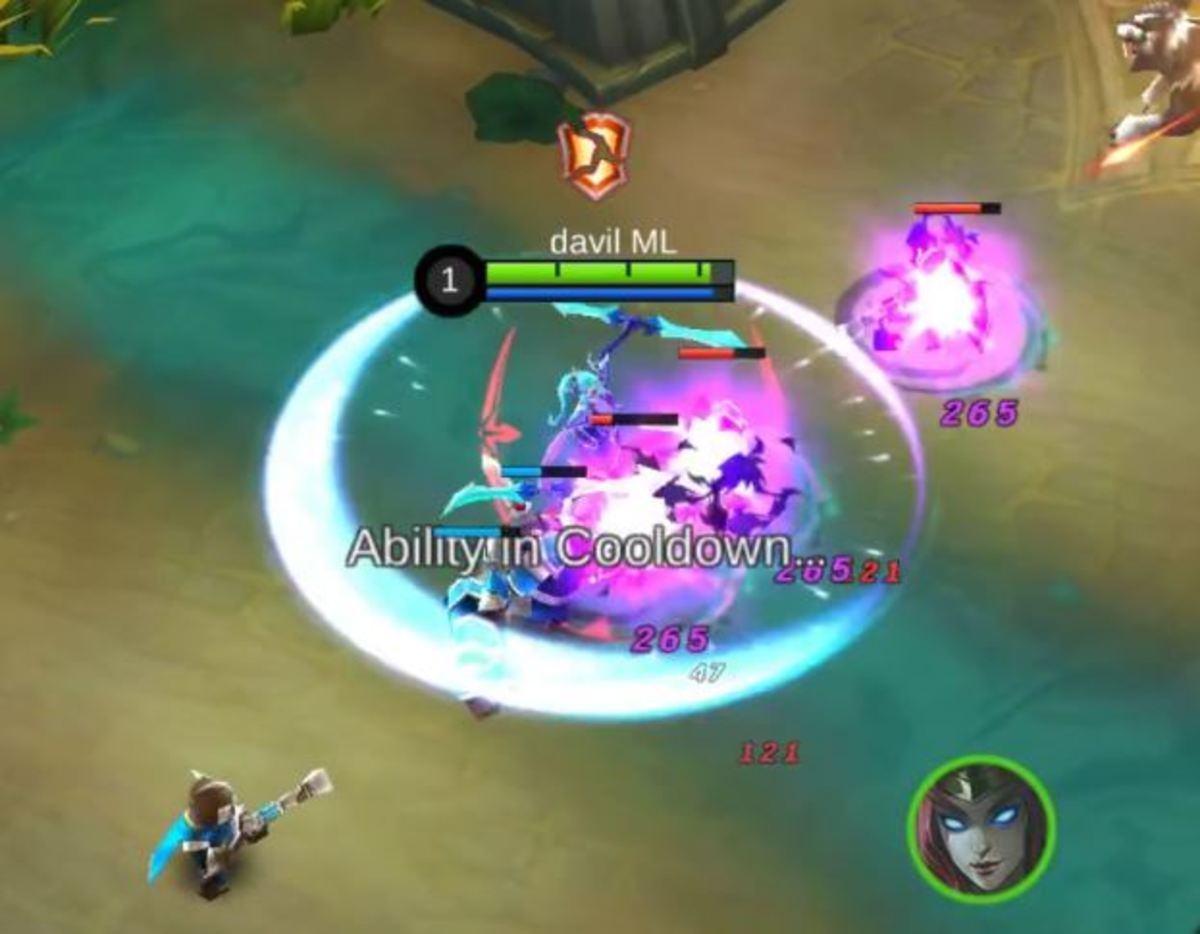 Karina Laying Waste Upon the Enemies With Her Dance of Death