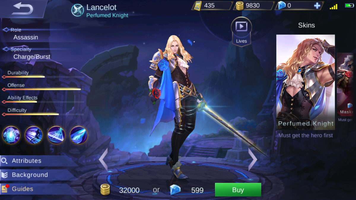 Lancelot is the Perfumed Knight
